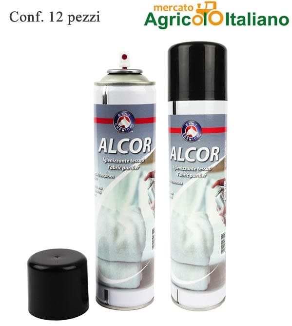 Igienizzante tessuti spry Alcor ml.400 Conf. 12 pezzi