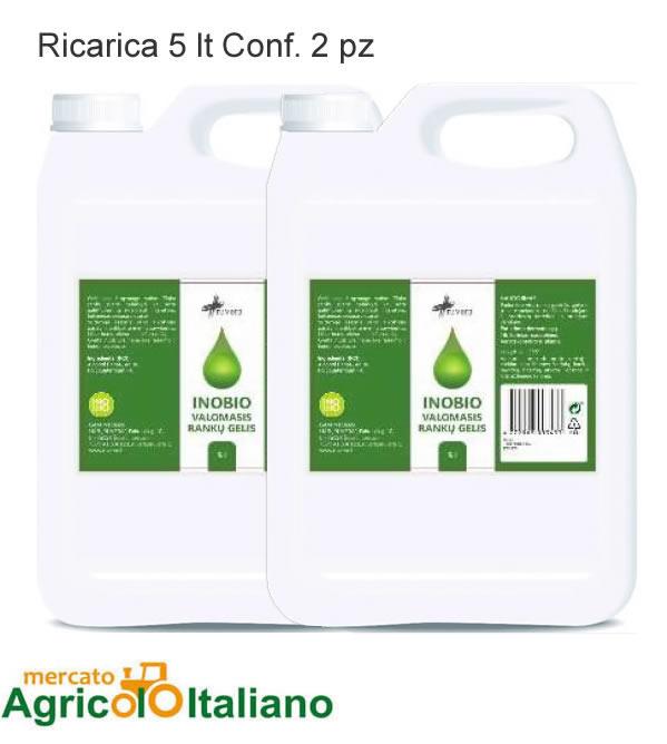 Gel igienizzanti mani - Tanica da 5 tl - 75% Alcool Conf. 2 taniche