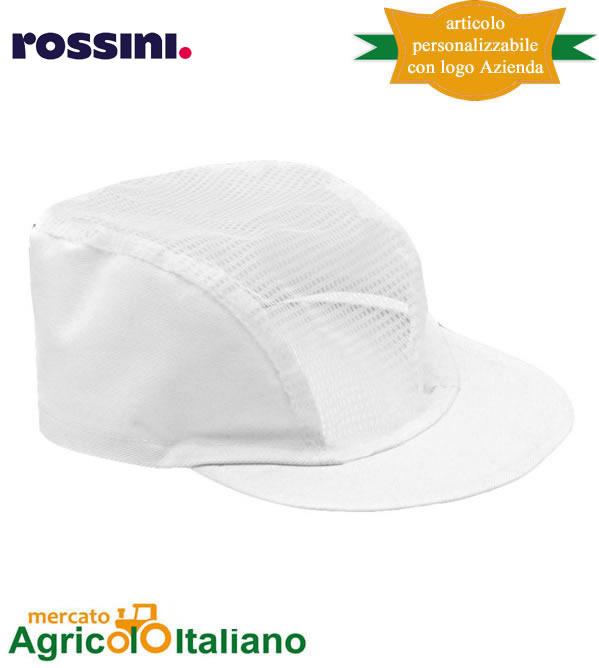 Cappellino con visiera in cotone e copricapo in rete