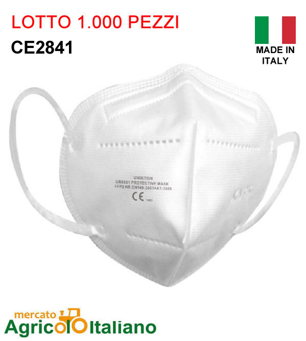 1000 Mascherine Certificate FFP2 - CI III Certificata CE - Lotto. 1000pz - 0.99 Euro Imbustate singolarmente