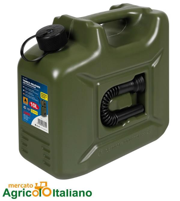 Tanica carburante in polietilene, modello militare - 10 L Lampa