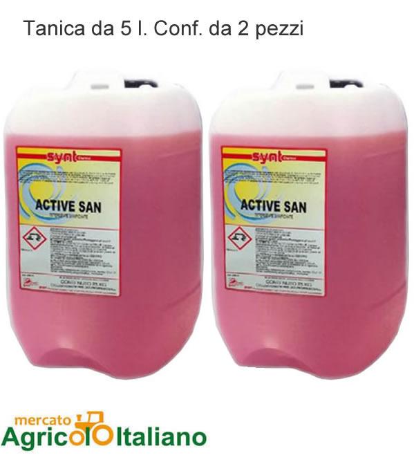 Detergente igienizzante professionale. Tanica da 5 lt. Confezione 2 PZ