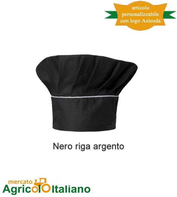 Cappello cuoco Nettuno 100% cotone. Taglia unica