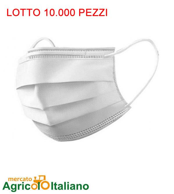10.000 Mascherine chirurgiche certificate ad uso medico 17 centesimi Lotto 10.000 Pz