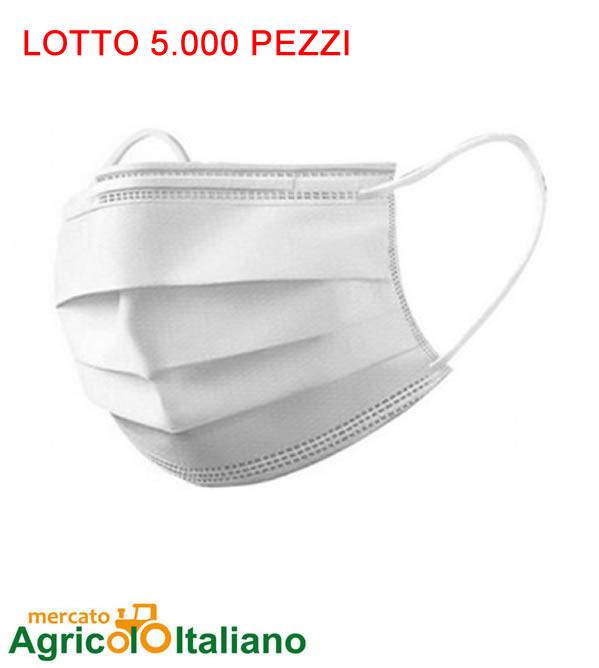 5.000 Mascherine chirurgiche certificate ad uso medico 19 centesimi Lotto 5000 Pz