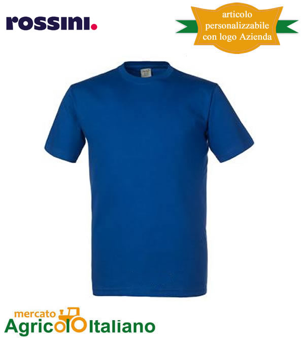 T-shirt Take Time girocollo 100% cotone - Blu Royal