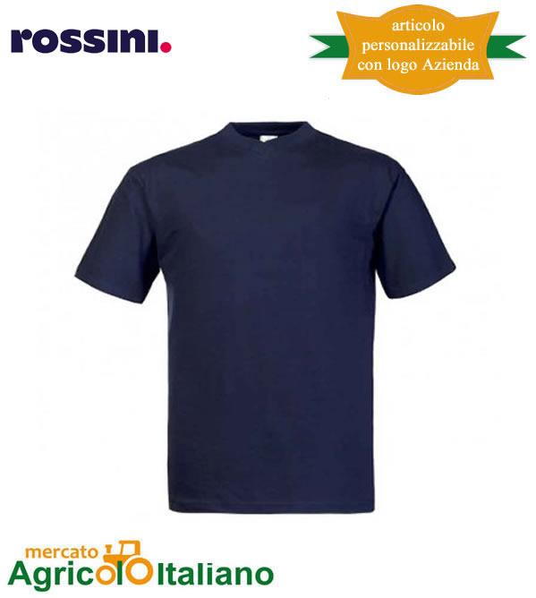 T-shirt Take Time girocollo 100% cotone - Blu