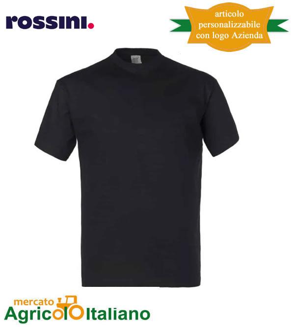 T-shirt Take Time girocollo 100% cotone - Nera
