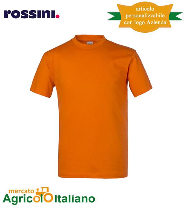 T-shirt Take Time girocollo 100% cotone - Arancio