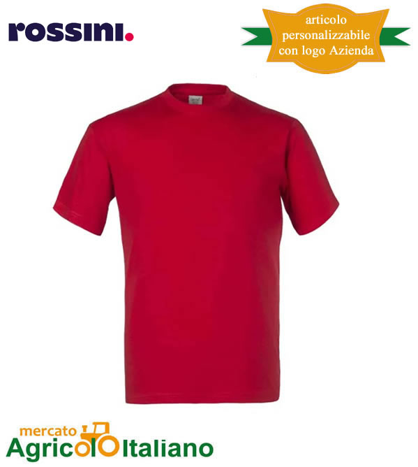 T-shirt Take Time girocollo 100% cotone - Rosso