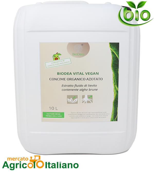BioDea Vital Vegan concime organico azotato Conf.10 Lt