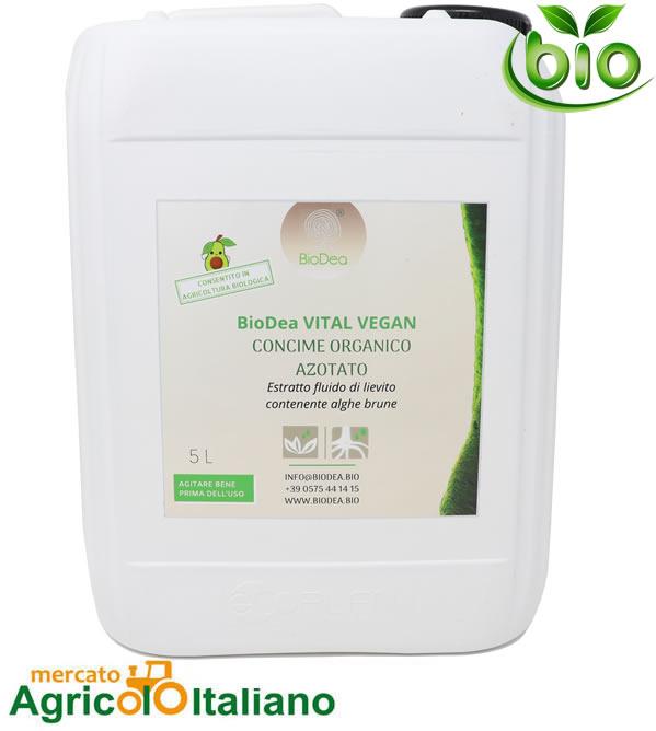 BioDea Vital Vegan concime organico azotato Conf.5 Lt