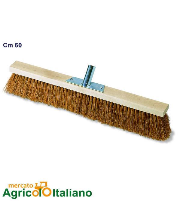 Scopa in fibra di cocco e coccia legno cm 60